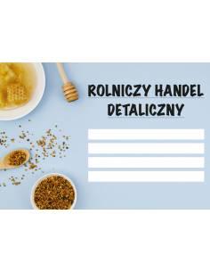 Paczka etykiet na miód rzepakowy (100szt) - wzór E15