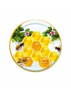 Paczka etykiet na miód nektarowo-spadziowy (100szt) - wzór E18