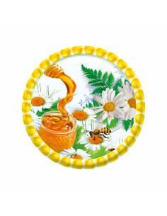 Paczka etykiet na miód wielokwiatowy (100szt) - wzór E19