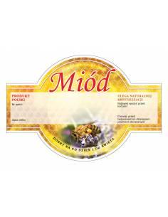 Paczka etykiet na miód wielokwiatowy (100szt) - wzór E1221