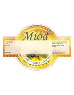 Paczka etykiet na miód wielokwiatowy (100szt) - wzór E1222