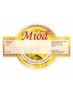 Paczka etykiet na miód lipowy (100szt) - wzór E1223