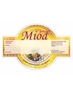 Paczka etykiet na miód akacjowy (100szt) - wzór E1224
