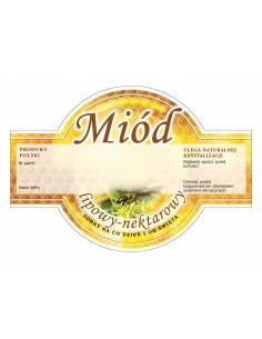 Paczka etykiet na miód gryczany (100szt) - wzór E1225