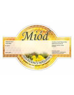 Paczka etykiet na miód rzepakowy kremowany (100szt) - wzór E1230