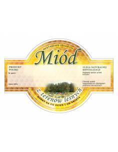 Paczka etykiet na miód wielokwiatowy (100szt) - wzór E49