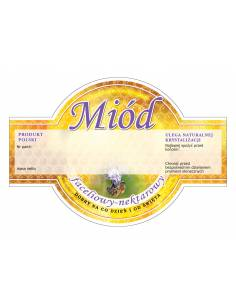 Paczka etykiet na miód wielokwiatowy (100szt) - wzór E50