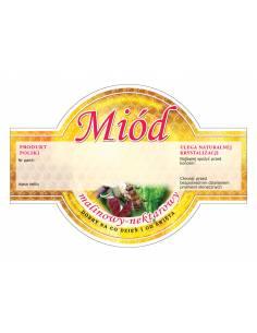 Paczka etykiet na miód mniszkowy (100szt) - wzór E51