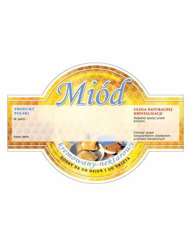 Paczka etykiet na miód lipowy (100szt) - wzór E52