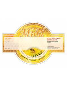 Paczka etykiet na miód gryczany (100szt) - wzór E54