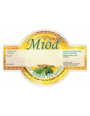 Paczka etykiet na miód rzepakowy (100szt) - wzór E55