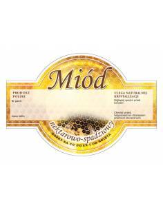 Paczka etykiet na miód nektarowo-spadziowy (100szt) - wzór E56