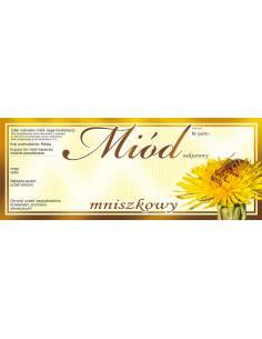 Paczka etykiet na miód malinowy (100szt) - wzór E1005