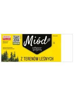 Paczka dużych etykiet na miód akacjowy (100szt) - wzór E116